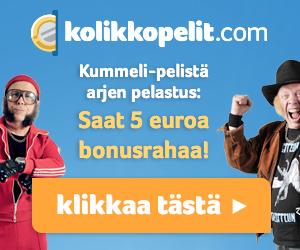 Saa 5 euroa ilmaiseksi ja 100% bonus kolikkopeleillä!