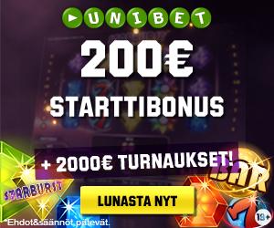 200 Euro bonus Unibetiltä