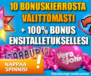 Vera & John – 10 Free Spins on Starburst